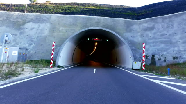 fast driving in tunnel.time lapse - tunnel video stock e b–roll