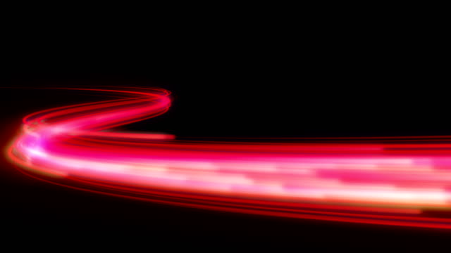 Fast energy flying wave line with flash lights.