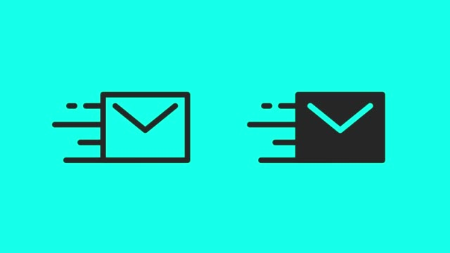 Fast Mail Icons - Vector Animate Fast Mail Icons Vector Animate 4K on Green Screen. email icon stock videos & royalty-free footage