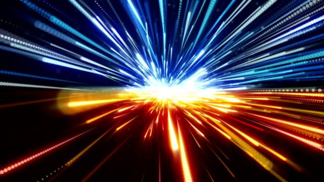 fast motion blur on road loop video