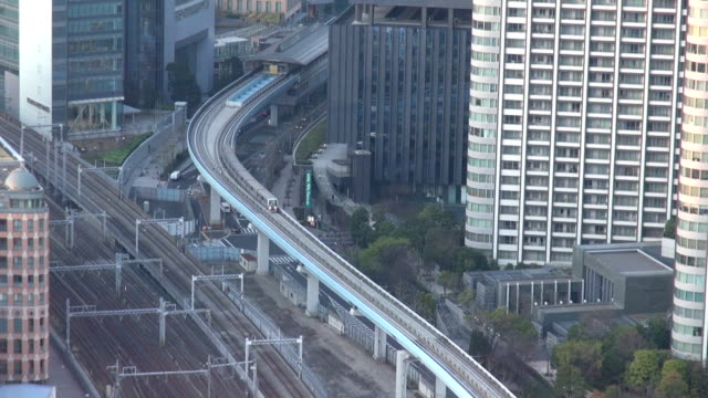 Fast motion of train traffic by day, Tokyo, Japan video