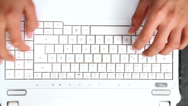 Fast Motion Typing On A Keyboard video