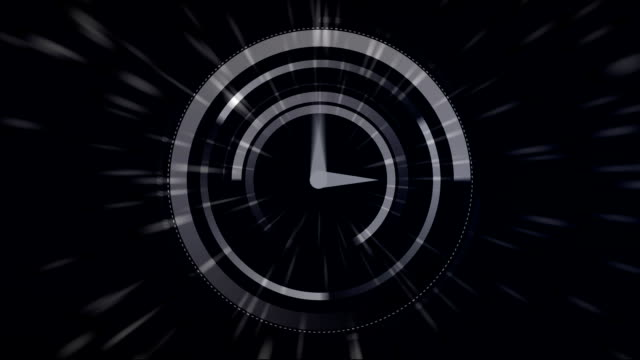 Fast moving clock and light trails