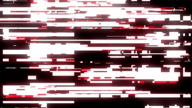 sfondo dello schermo di interferenza glitch rosso veloce per l'animazione del logo nuova tecnologia twitch digitale di nuova qualità riprese video colorate - full hd format video stock e b–roll