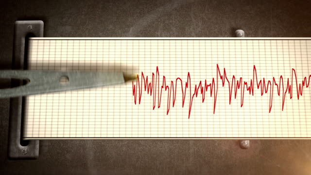 Fast Seismograph Animation HD video