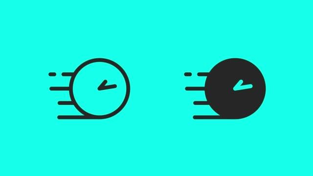 snabb tid ikoner - vektor animera - alarm clock bildbanksvideor och videomaterial från bakom kulisserna