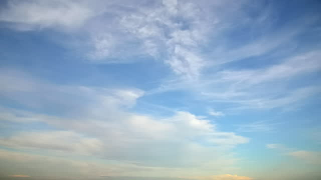 Fast time lapse clouds against a blue sky
