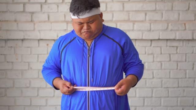 Fat men use the waist line measurement.