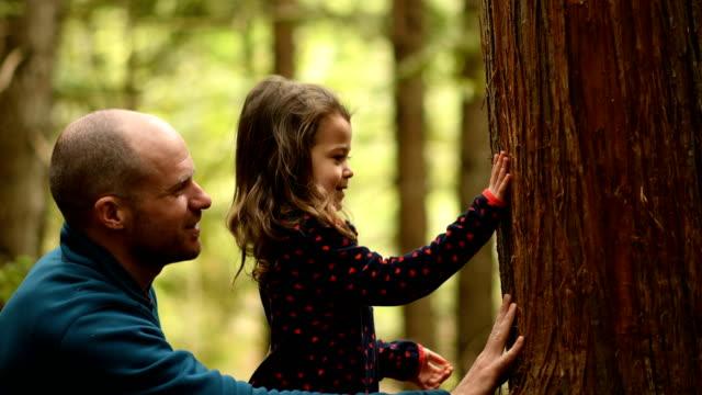 Père et fille en connexion avec la nature - Vidéo