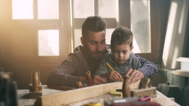 Father and son carpenters video
