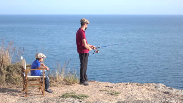 Father And Son Fishing video