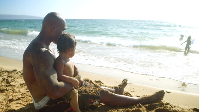 отец и сын размахивающий лапами - summer background стоковые видео и кадры b-roll