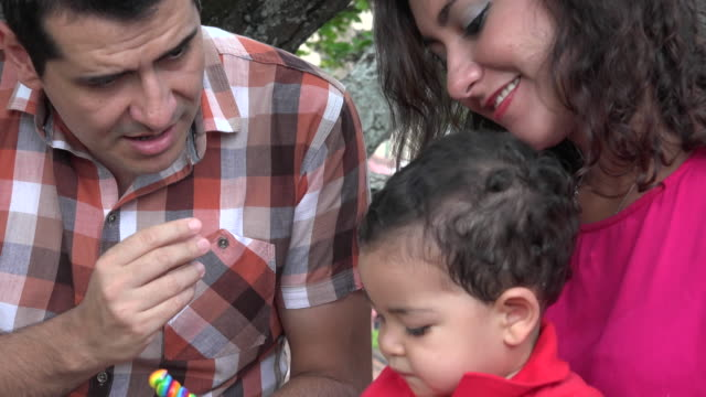 Father Singing To His Baby Stock Video - Download Video Clip
