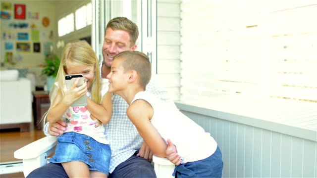 Father spending time with his kids video