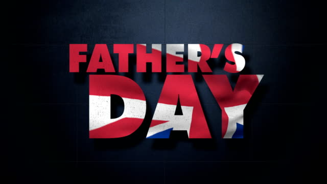 father's day and british flag - fathers day stock videos and b-roll footage