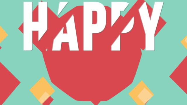 vídeos de stock, filmes e b-roll de cartão de dia dos pais animado.  estilo retrô. - fathers day