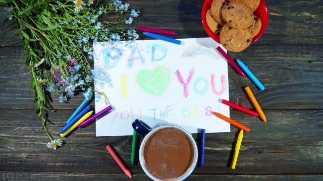 Presentes de dia dos pais de crianças - vídeo