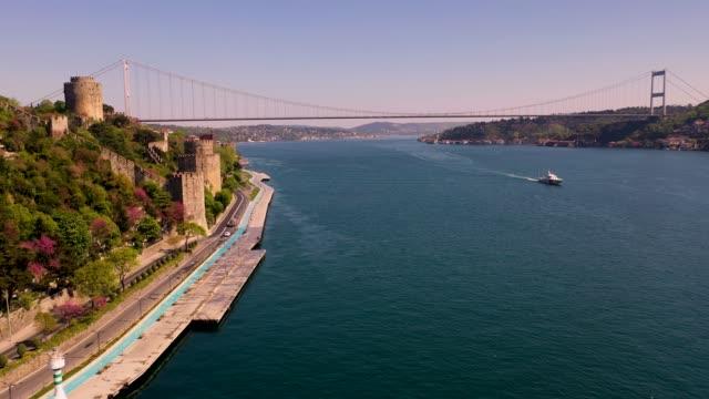 Fatih Sultan Mehmet Bridge, Second Bridge from Istanbul Bosphorus Turkiye.