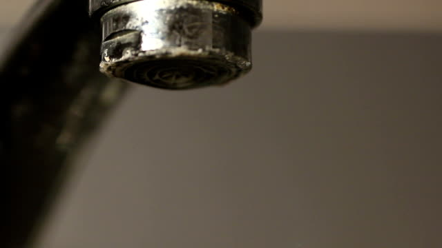 faucet dripping drops water rusty video