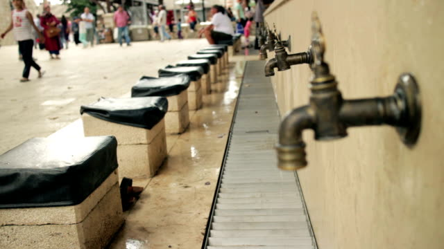 Faucets for ablution in Istanbul video