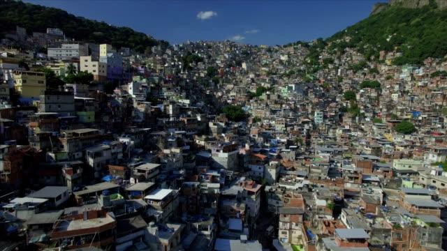 Favela Aerials: Forwards move into Rocinha favela, Rio de Janeiro, Brazil