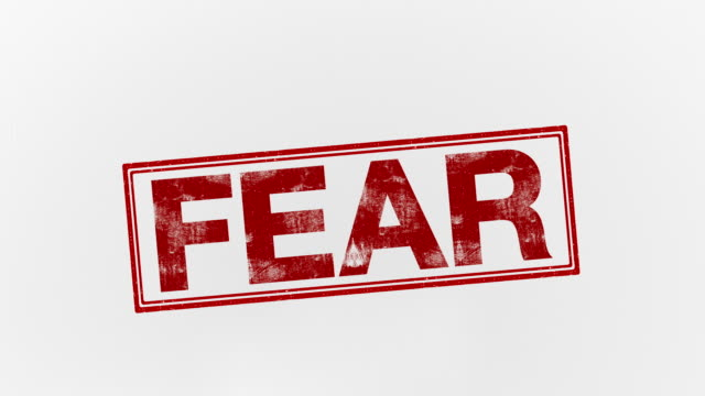fear fear text stamp stock videos & royalty-free footage