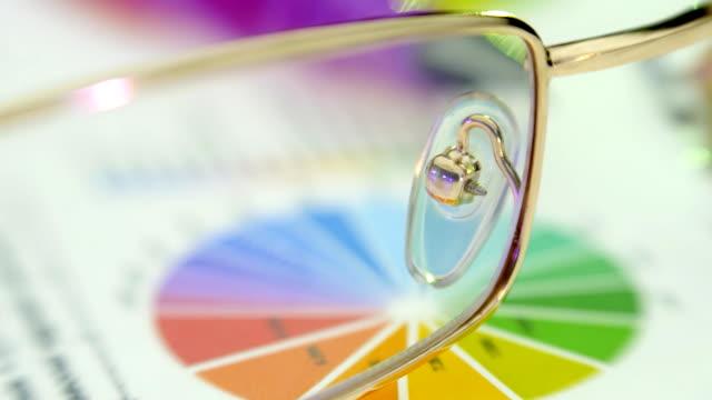 feather füllfederhalter und gläser liegen auf der dokumente-diagramme und grafiken mit - inflation stock-videos und b-roll-filmmaterial