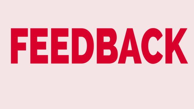 feedback - feedback stock-videos und b-roll-filmmaterial