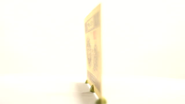 Feel the Paper Currency of China's One Fen video