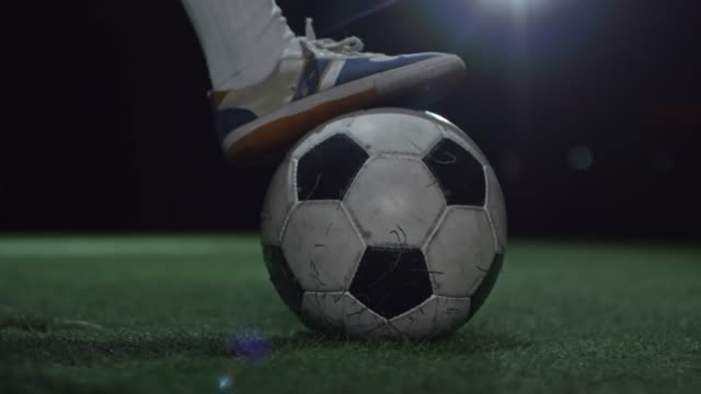 Feet of Junior Athlete Shooting Soccer Ball video