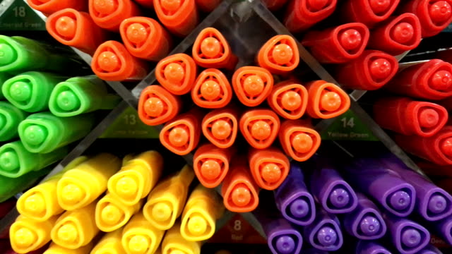 Felt-tip pens of various color for sale video