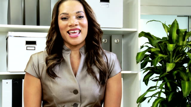 Female African American Freelance Consultant Video  Uplink video