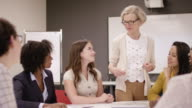 istock Female Baby Boomer Pitching A Proposal to a Client 1166884718