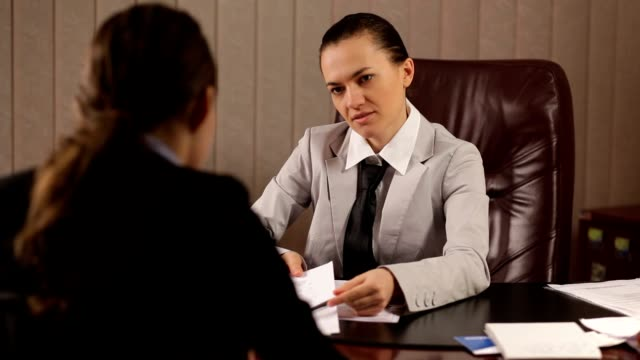 Female boss communicate bad news video