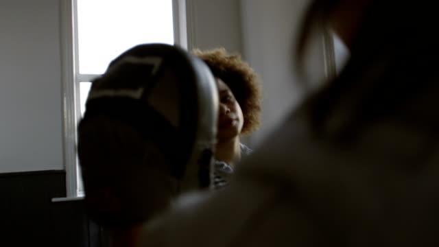 Female Boxer in Training video