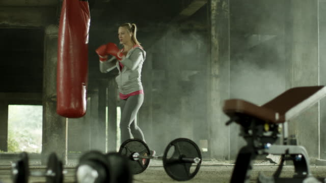 Female boxer training video
