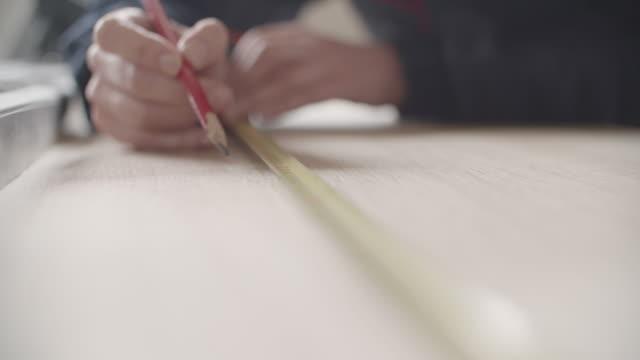 vídeos y material grabado en eventos de stock de mujer carpintero - carpintero