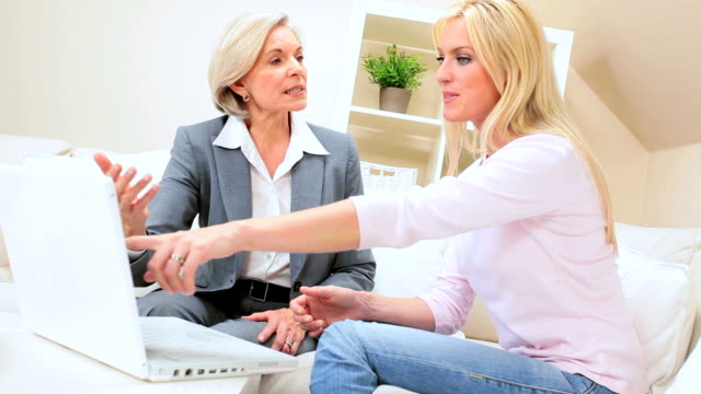 Female Client Meeting with Financial Advisor at Home video