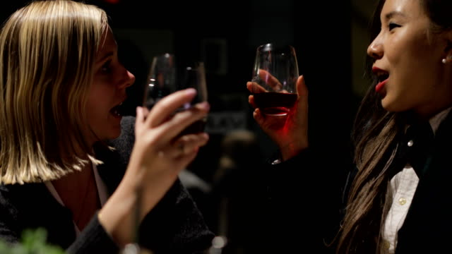 Female Colleagues Drinking After Work video