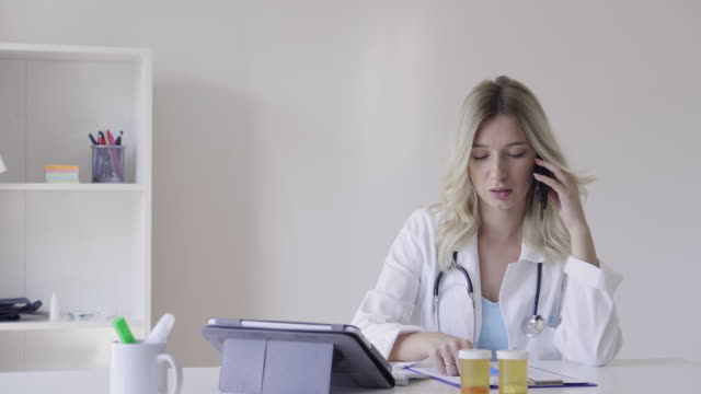 Female doctor  portrait video