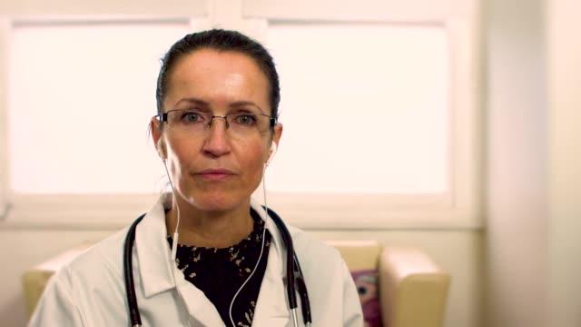 Female doctor telemedicine consultation