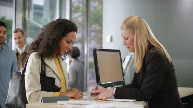 Female employee helping a female customer