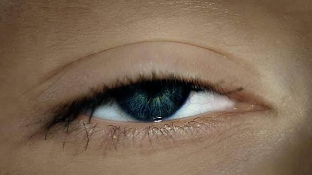 Female eye close-up video