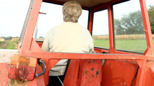 HD: Female Farmer Driving Tractor video