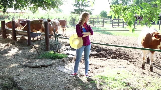 Female farmer on the farm