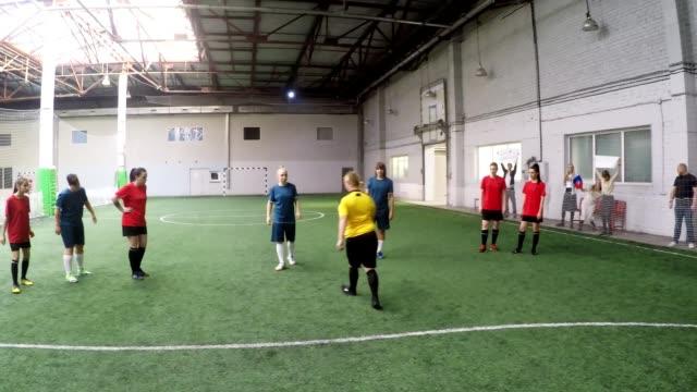 POV of Female Goalkeeper Blocking Penalty Kick