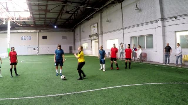 POV of Female Goalkeeper Catching Soccer Ball