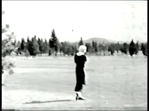 Female golfer, circa 1935 video