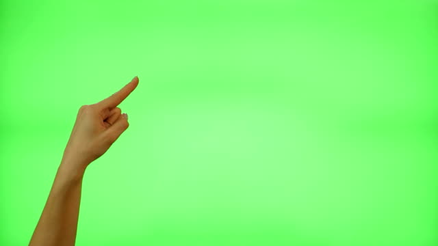 Female hand gestures on green screen Female hand gestures on green screen: clapping, thumbs up, pointing, countdown to five, ok, presenting pointing stock videos & royalty-free footage