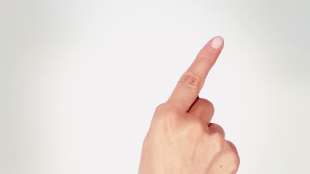 Female Hand. Mobile phone. Touchscreen gestures. Luma matte. video